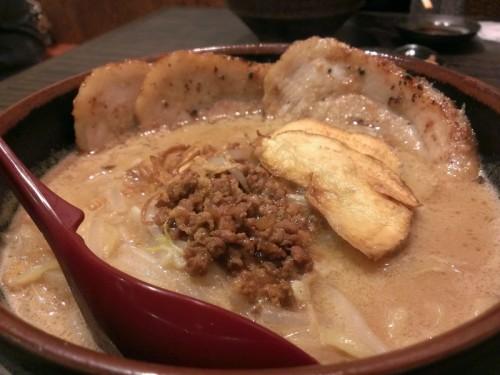 信州味噌の味噌づけ炙りチャーシュー麺