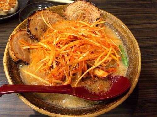 九州麦味噌 味噌漬け炙りチャーシュー麺+肉ネギ