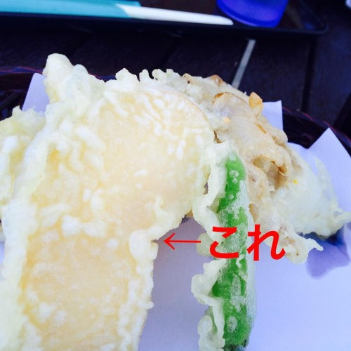りんごの天ぷら