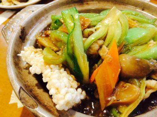 五目鍋巴 豚肉と五目野菜の醤油味おこげ